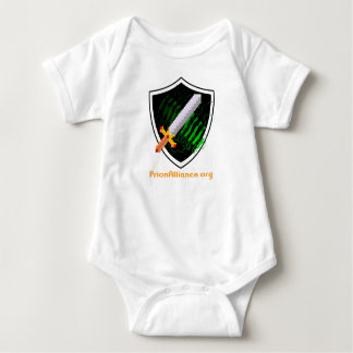 Baby bodysuit (white) with Prion Alliance logo