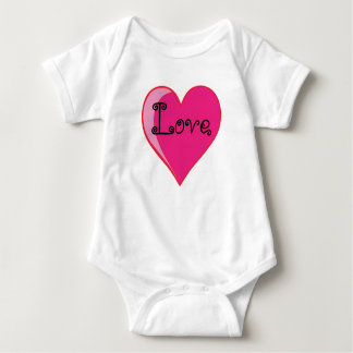 Baby Bodysuit with heart design