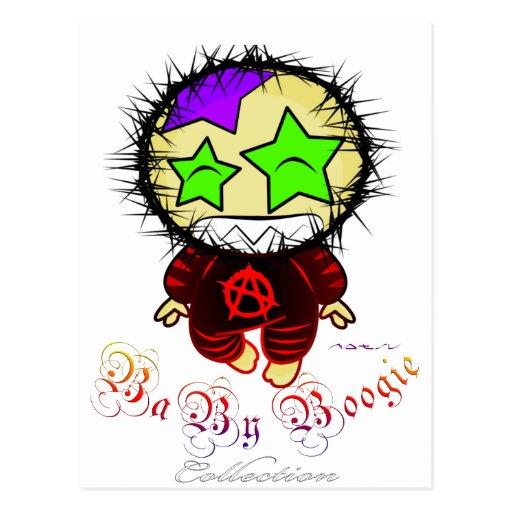 Baby Boogie - Anarchist Rocker Postcard