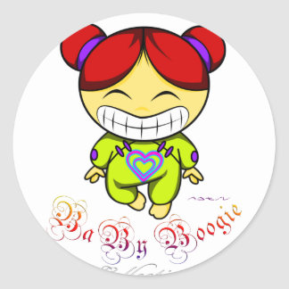 Baby Boogie - Happy Girl Classic Round Sticker