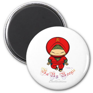 Baby Boogie - Red Ninja 2 Inch Round Magnet