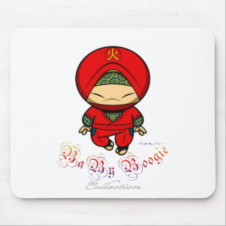 Baby Boogie - Red Ninja Mouse Pad