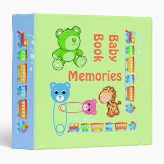 Baby Book Memories 3 Ring Binder