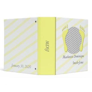 Baby Book Yellow Vinyl Binders