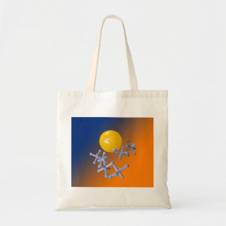 Baby Boomer 1960s Toy Jacks and Ball Tote Bag