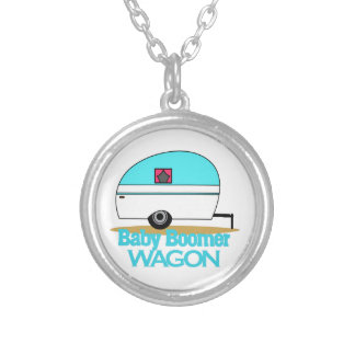 Baby Boomer Round Pendant Necklace