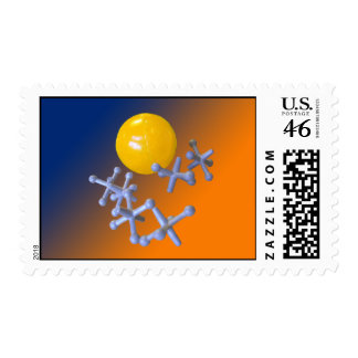 Baby Boomer Toy Jacks and Ball Postage Stamps