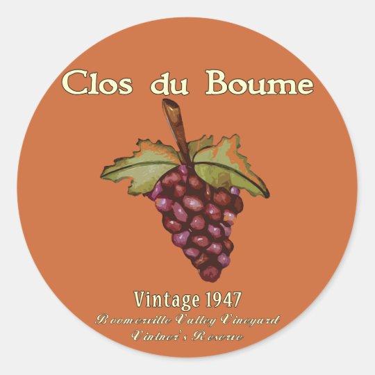 Baby Boomer, Vintage 1947 Classic Round Sticker