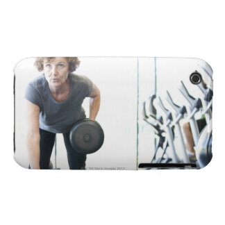 Baby boomer woman working out triceps in health Case-Mate iPhone 3 case