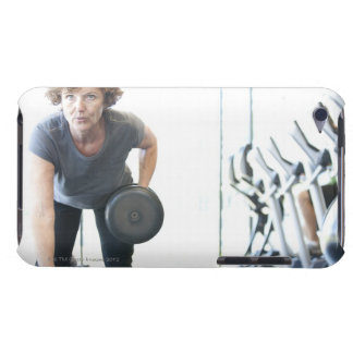 Baby boomer woman working out triceps in health Case-Mate iPod touch case