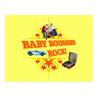 Baby Boomers Rock Postcard