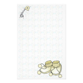 Baby Bootie Yellow Stationery