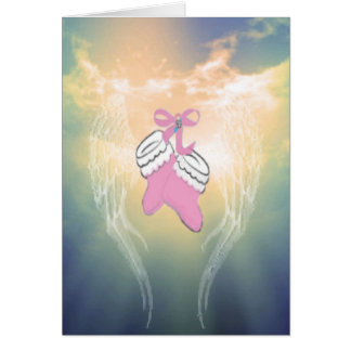 Baby Booties Pink Card