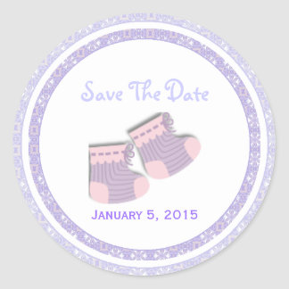 Baby Booties: Save The Date Stickers