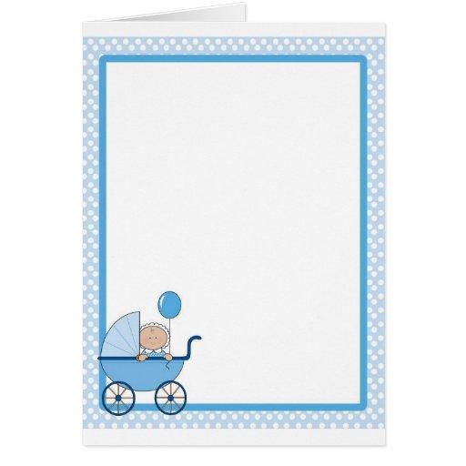 Baby Border Boy Greeting Cards | Zazzle