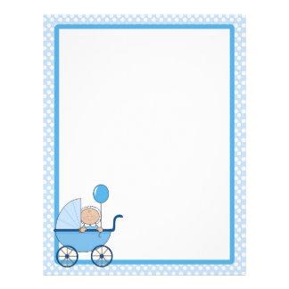 Baby Border Boy Customized Letterhead