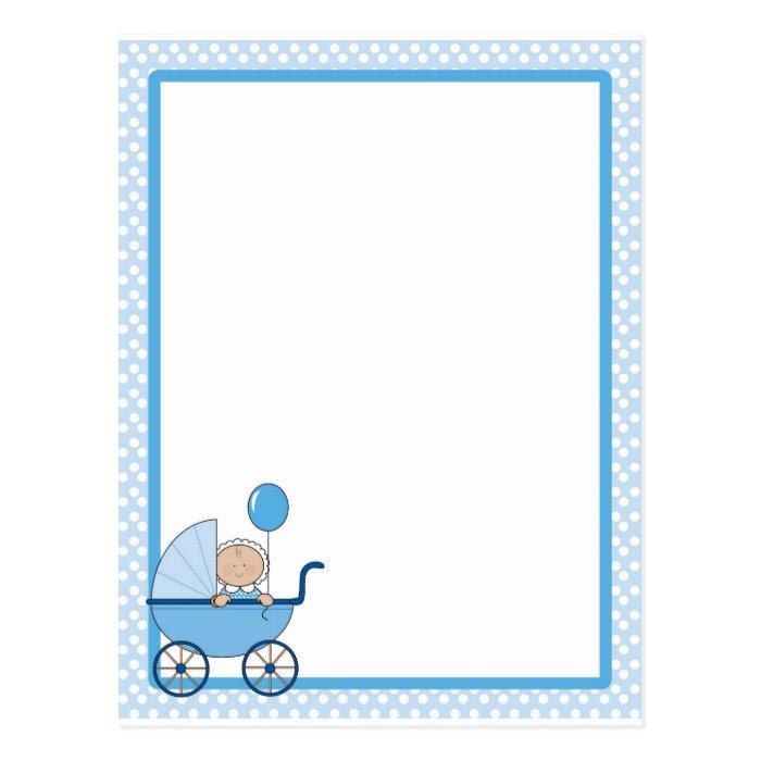 Baby Border Boy Postcard