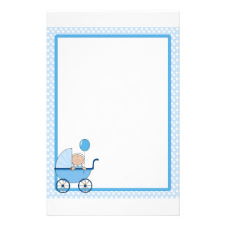Baby Border Boy Stationery