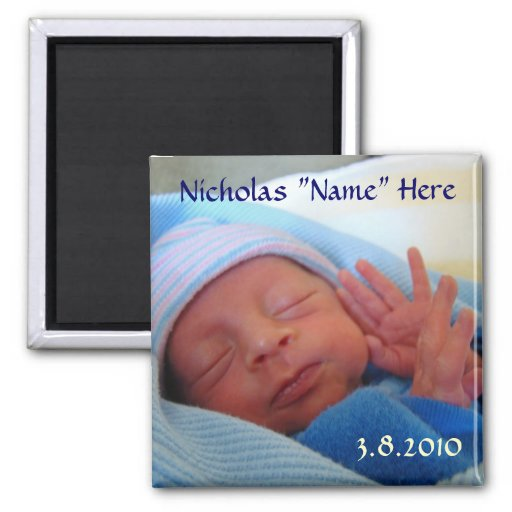 Baby Gift Announcement : Baby born magnet new announcement gifts zazzle