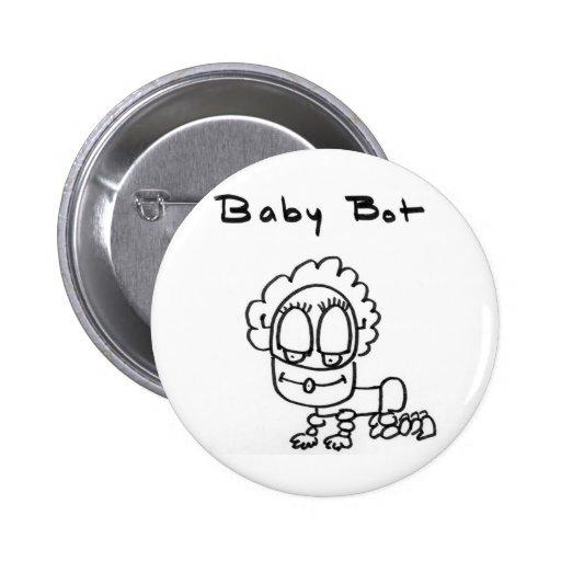 Baby Bot 2 Inch Round Button