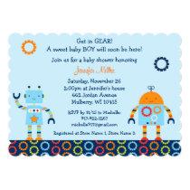 Baby Bots Robot Baby Shower Invitation