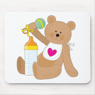 Baby Bottle And Bib Mouse Pad