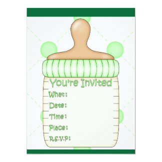 Baby Bottle Baby Shower for Girl or Boy Card