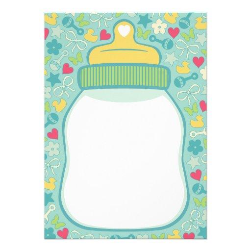 baby bottle baby shower invitations 5 x 7 invitation card zazzle