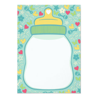 Baby Bottle Baby Shower Invitations