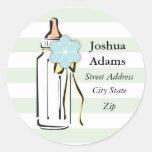 Baby Bottle- Boy Address Label Stickers