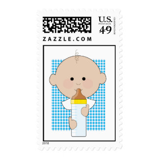 Baby Bottle Boy Stamps