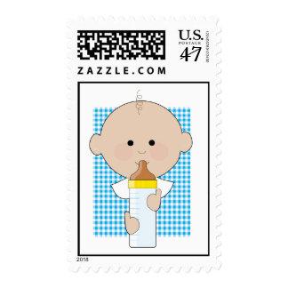 Baby Bottle Boy Stamp