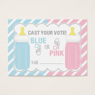 Baby Bottle Gender Reveal Voting Card