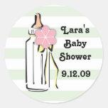 Baby Bottle- Girl Gift Label Round Sticker
