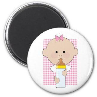 Baby Bottle Girl Magnets