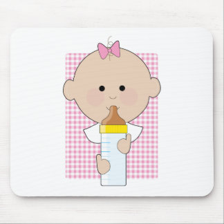 Baby Bottle Girl Mouse Pad