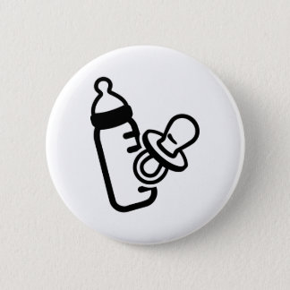 Baby bottle pacifier pinback button