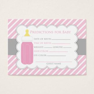 Baby Bottle Predictions Card
