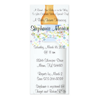 Baby Bottle Shower Invitation