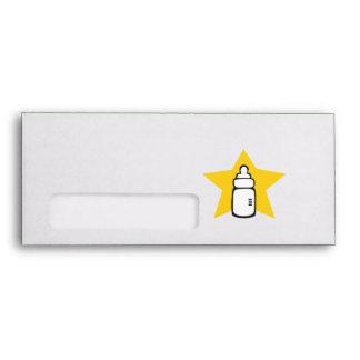 Baby bottle Star Envelopes
