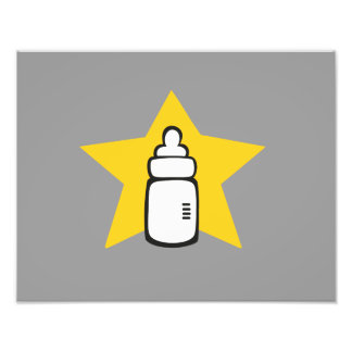 Baby bottle Star Photographic Print