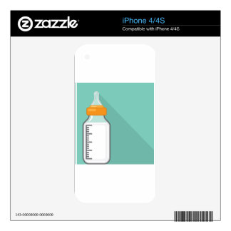 Baby bottle with milk iPhone 4 skin