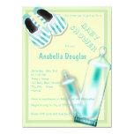 "Baby Bottles Baby Shoe Baby Shower Invitations 5.5"" X 7.5"" Invitation Card"