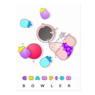 Baby Bowler 01 Postcard
