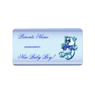 Baby Boy #1 Label