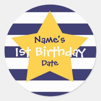 Baby Boy 1st Birthday Sticker