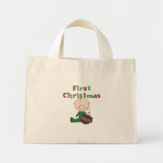 Baby Boy 1st Christmas Tshirts and Gifts Tote Bag