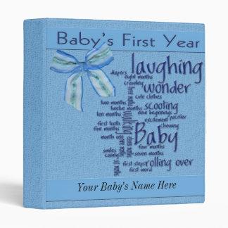 Baby Boy 1st Year Album Binder