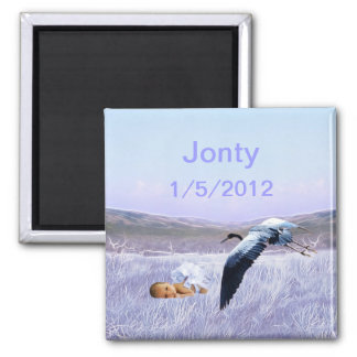 Baby boy 2 inch square magnet
