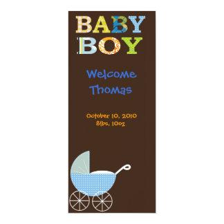Baby Boy 4x9.25 Paper Invitation Card